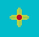 New Mexico Flag in Turquoise by Sun Dog Montana