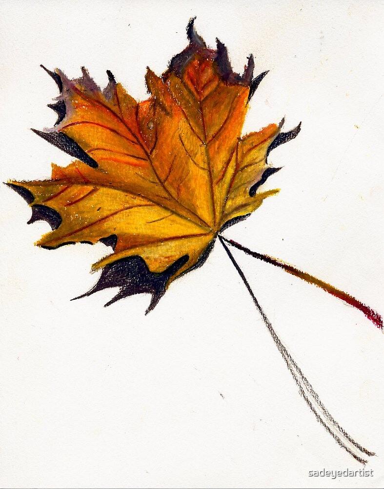 Fall Leaf (Yellow) by sadeyedartist