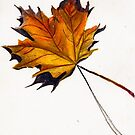 Fall Leaf (Yellow) by sadeyedartist