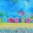 Beach Huts by FrancesArt
