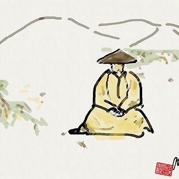 Monk in Zazen by dcgalex
