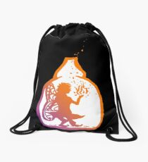 Fairy in a Bottle Drawstring Bag