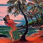 HAWAIIAN HULA by WhiteDove Studio kj gordon