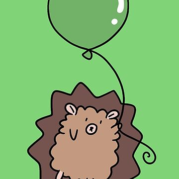 Green Balloon Hedgehog  by SaradaBoru