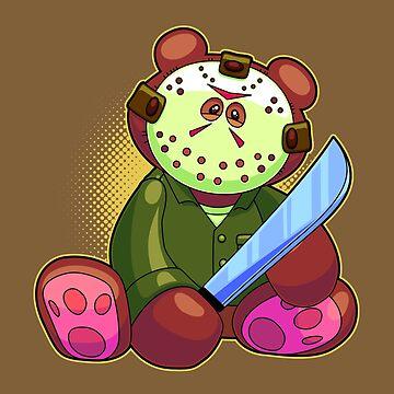 Horror Teddy Bear 7 by artdyslexia