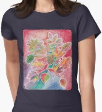 Otoño colorido Camiseta entallada para mujer