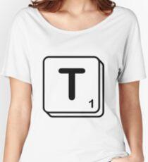 T scrabble print Women's Relaxed Fit T-Shirt