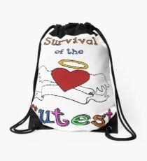Survival of the Cutest  Drawstring Bag