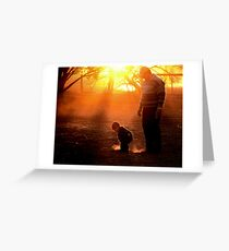Gold Dust Greeting Card