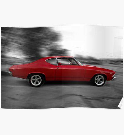 1969 Chevrolet Chevelle Hot Rod Poster