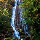 Autumn Waterfall Smoky Mountain National Park by photosbyflood