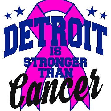 Detroit Brease Cancer Awareness Pink Ribbon by kh123856