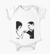 DON'T BOO, VOTE: Obama Fist Bump Short Sleeve Baby One-Piece