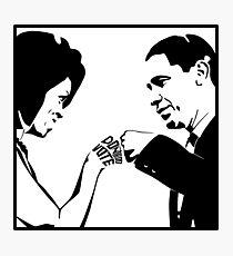 DON'T BOO, VOTE: Obama Fist Bump Photographic Print
