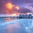 Busselton Jetty Sunrise by Paul Pichugin