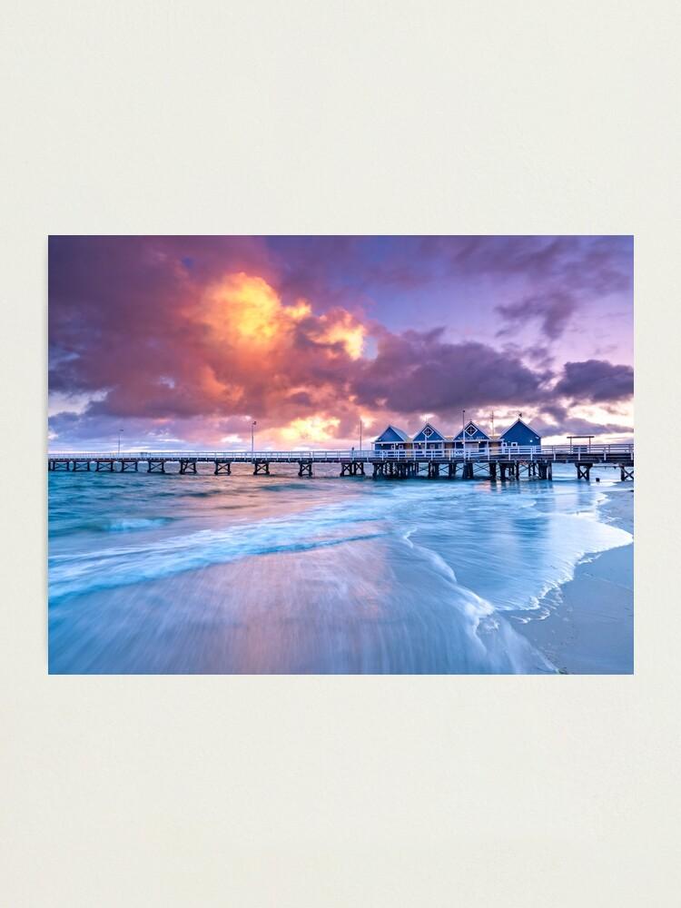 Alternate view of Busselton Jetty Sunrise Photographic Print
