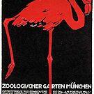 Flamingo in Munich 1912 Zoo Advertisement by edsimoneit
