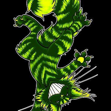 Green Funky Cat  by cybercat