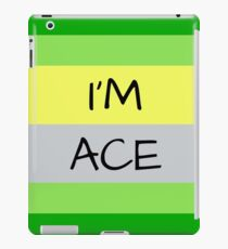 AROMANTIC FLAG I'M ACE ASEXUAL T-SHIRT iPad Case/Skin