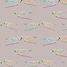 Happy Birds on polka latte by henryflorence