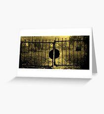 SPOOKY GATE Greeting Card