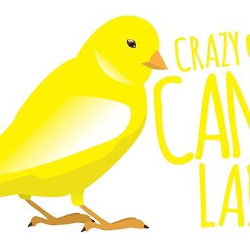 Crazy Canary (bird) Lady by jazzydevil