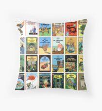 Tintin Book Covers Throw Pillow