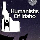 Humanists of Idaho Wolf Moon and Stars by IdahoHumanists