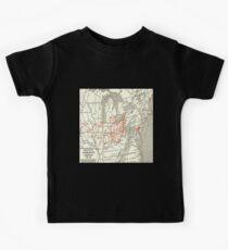 Underground Railroad Map Fugitive Slave Freedom Routes (enlarged) Kids Tee