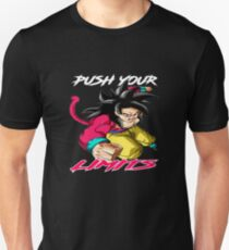 "Goku SSJ4 ""Push Your Limits"" White/Red Letter Unisex T-Shirt"