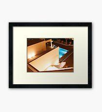reflected light... Framed Print