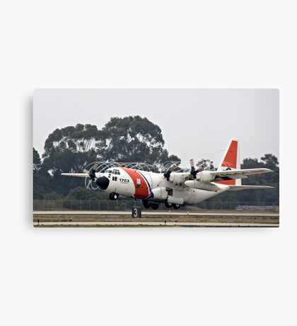 Coast Guard Foggy Takeoff Canvas Print