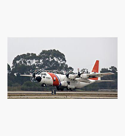 Coast Guard Foggy Takeoff Photographic Print