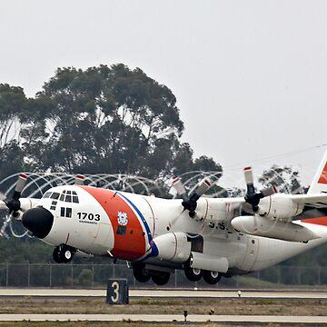 Coast Guard Foggy Takeoff by Mytmoss