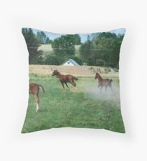 Kicking Up The Dust Throw Pillow