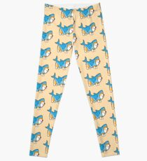 Corgi In a Shark Suit Leggings