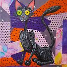 Buttons, The Patch Fabric Black Kitty by Beth Alcala