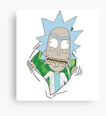 Rick Sanchez Portal Canvas Print