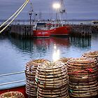 Cray Pots at Stanley Harbour, Tasmania by Christine Smith