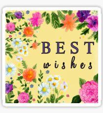 Best wishes Sticker
