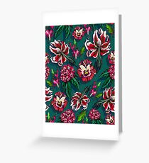 Tropical lush forrest floral Greeting Card