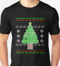 Jingle My Bells Funny Adult Christmas Ugly Gift Unisex T-Shirt