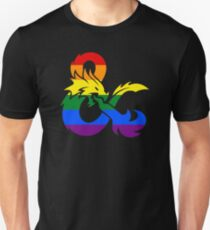 Dungeons and Dragons LGBTQ Flagge Slim Fit T-Shirt