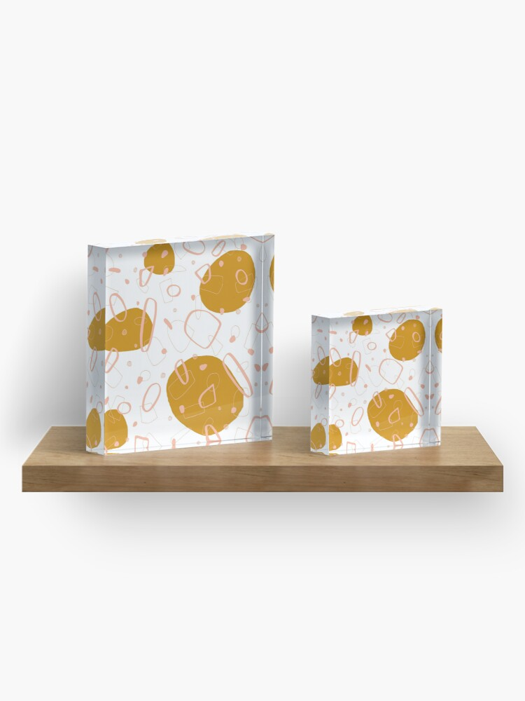 Alternate view of Doodle Pattern 03 #redbubble #doodle #pattern Acrylic Block