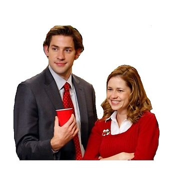Jim and Pam Smiling on Christmas by p0pculture3
