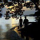 Golden Glow.....Roatan Island,Honduras by graeme edwards