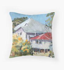 Wattle in Flower Throw Pillow