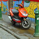Red Scooter...Melbourne,Victoria by graeme edwards