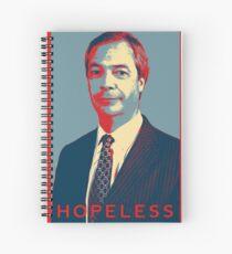 Nigel Farage  - Hopeless Spiral Notebook