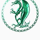 Green Celtic Dragon by Packrat